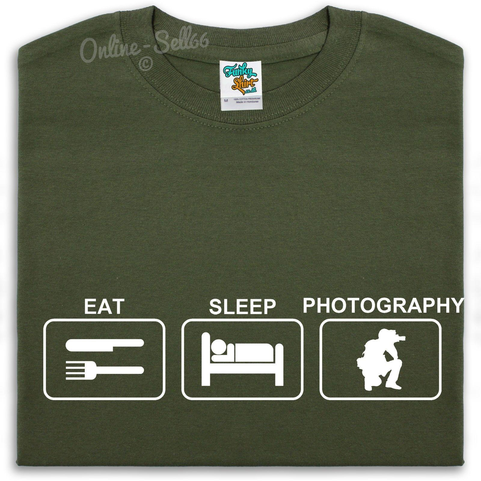5449d82a29 Eat Sleep Photography T Shirt Mens Boys Womens Photographer Film Camera Gift  Cool Casual Pride T Shirt Men Unisex New Fashion Make Your Own Tee Shirt  Design ...