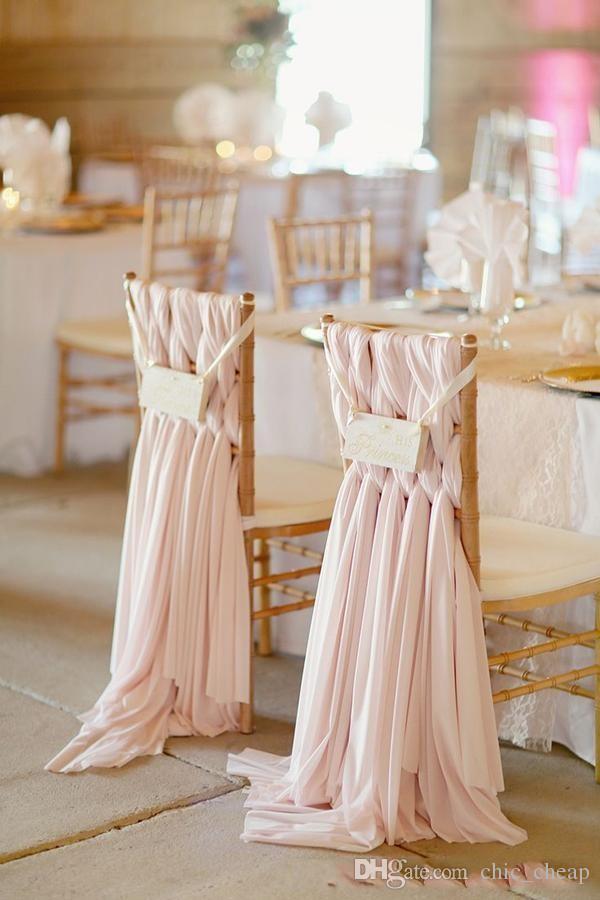 High Quality Chiffon DIY Wedding Decorations Simple Chair Cover 2018 Bridal Wedding Covers Classic Wedding Supplies