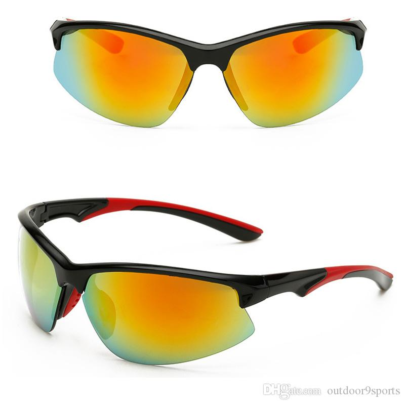 New Men Women Colorful Film Sunglasses Windproof Sunglasses Outdoor Sports Eyewear Mirror Riding Glasses Driving Goggles