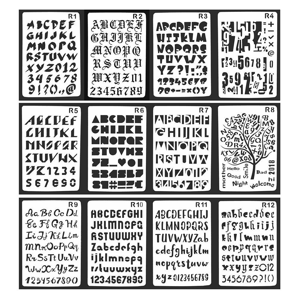 Großhandel 12 Teile Los Brief Alphabet Kugel Journal Schablone