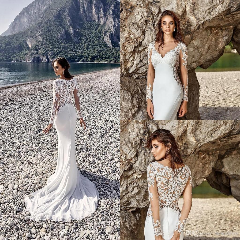Cheap Detachable Shirt Lace Wedding Dress Discount Berta Wedding Dresses  Tulle 9659f43efd9a