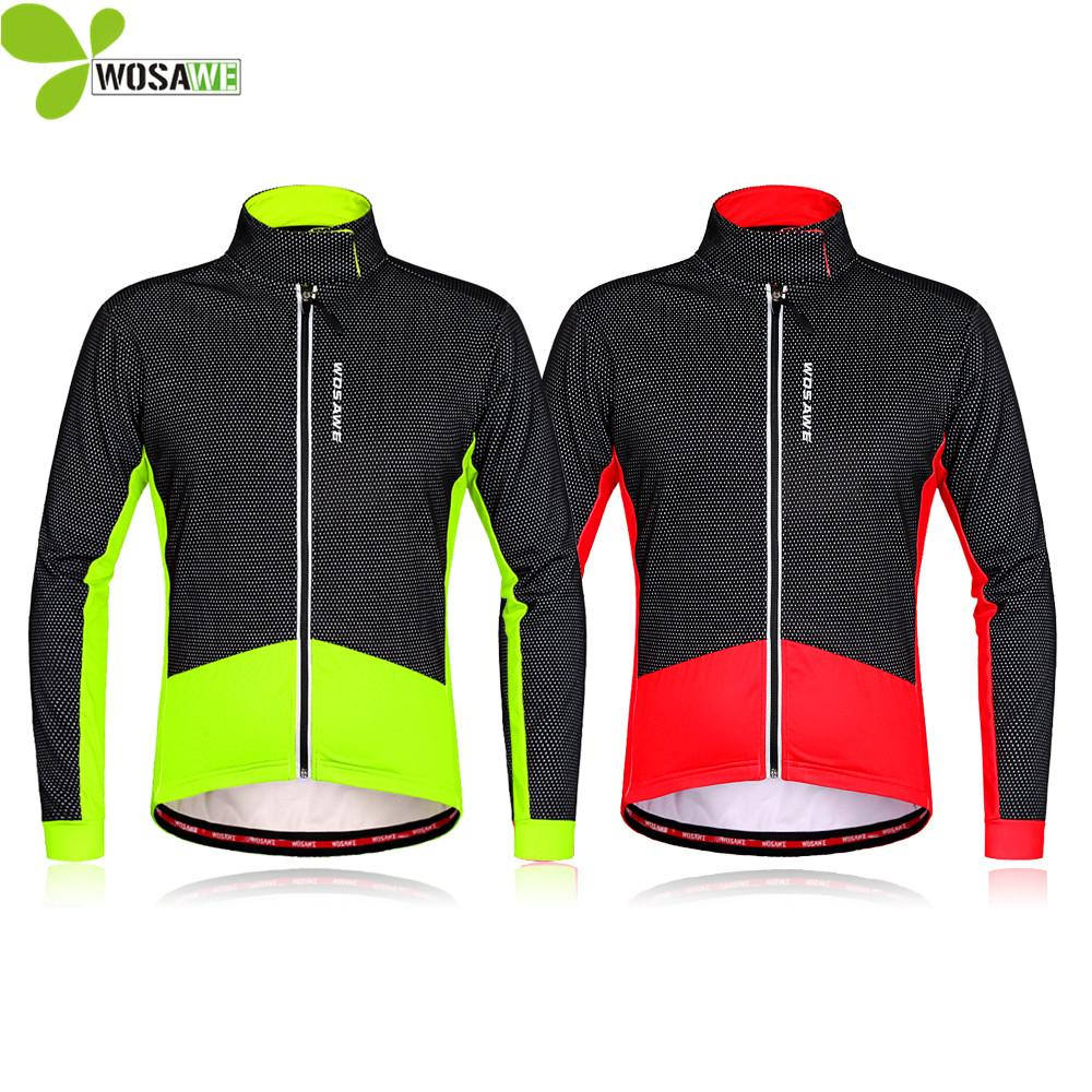 WOSAWE Thermal Fleece Winter Cycling Jackets Men Cycle Clothing Windproof  Ropa Ciclismo Coat MTB Reflective Bike Windbreaker Cycling Jacket Winter  Cycling ... 9c04abd11