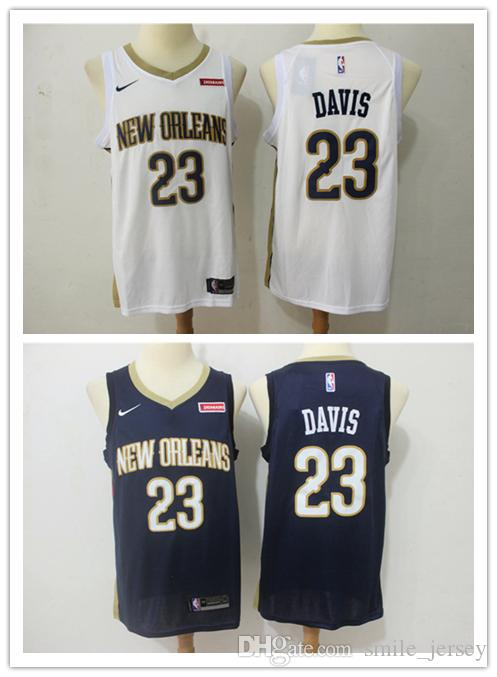 promo code a0515 1d809 2019 Mens 23 Anthony Davis New Orleans Jersey Pelicans Basketball Jerseys  Authentic Stitched Mesh Dense AU Anthony Davis Basketball Jerseys
