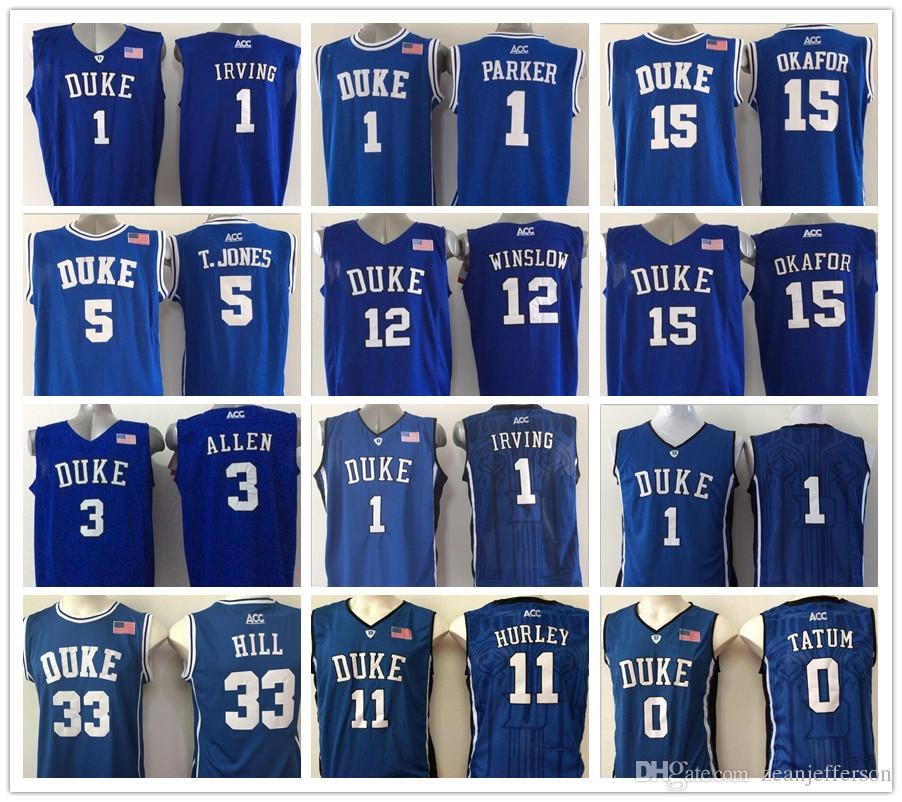half off 35596 6bcad NCAA ACC Jersey 1 Kyrie Irving 5 Tyus Jones 12 Justise Winslow 15 Alex  OConnell 11 Bobby Hurley 33 Grant Hill Basketball Jerseys
