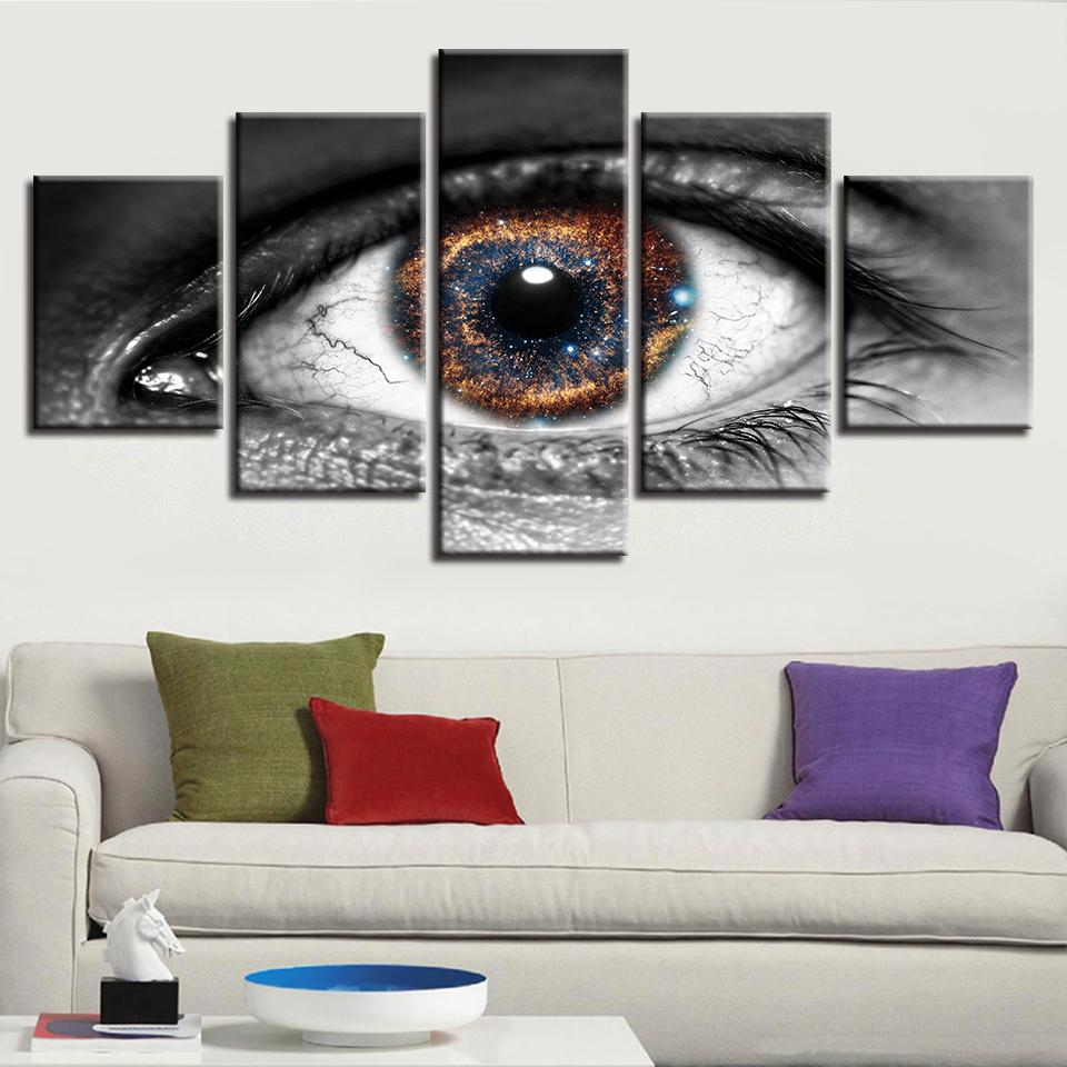 f6f1503797c Canvas Pictures Home Decor Framework Cosmos Starry Sky Eye Paintings ...
