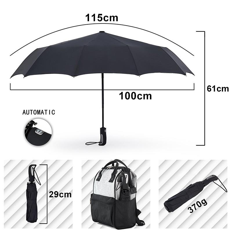 a668253ba 2019 2018 New Big Strong Fashion Windproof Men Gentle Folding Compact Fully  Automatic Rain High Quality Pongee Umbrella Women From Dh_home_garden, ...
