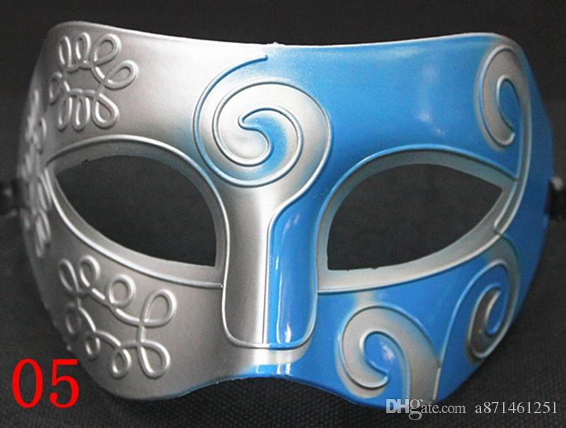 2018 Sliver Black Half Faces Mask For Men Roman Gladiator Mask Venetian Mardi Gras Masquerade Halloween Costume Party Maks