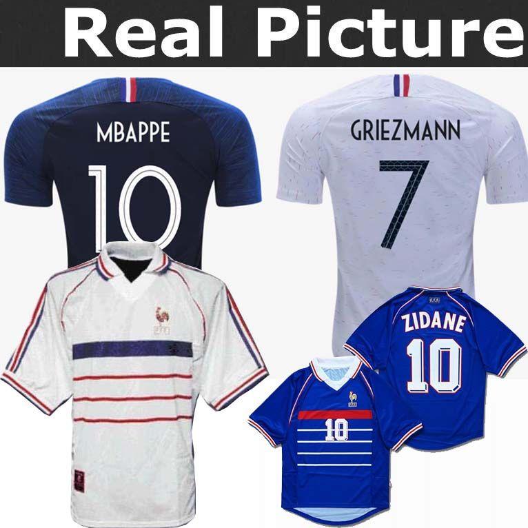 2019 2 Stars FrancE Soccer Jerseys GRIEZMANN MBAPPE POGBA 2018 World Cup  Shirts DEMBELE MARTIAL KANTE Jerseys Football GIROUD Maillot De Foot From  ... 10f37e824