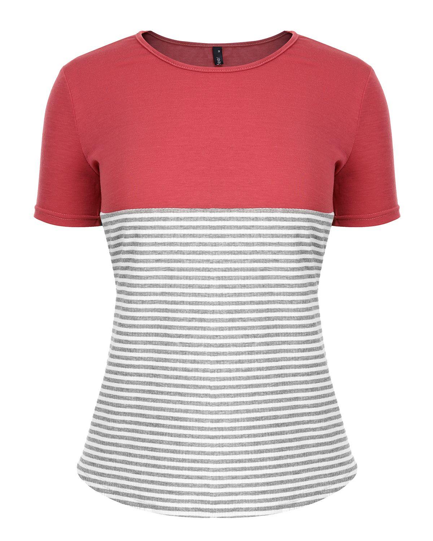 a5e2bd5512 Women Striped Splicing Baseball Tshirt 2019 Summer Fashion O Neck Short  Sleeve Top Tee All Matched T Shirt Plus Size XXL Tshirt Funny Shirt Cotton T  Shirts ...