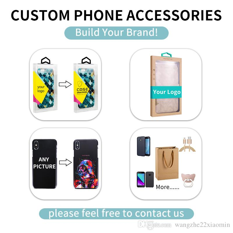 DIY Custom Design Blister PVC Plastic Retail Packaging Box Package For iPhone USB Cable Charger line Clear Box