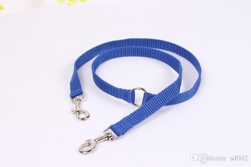 Pet Tração Corda Cabeça Dupla Design de Alta Densidade Nylon Trela Do Cão de Aço Inoxidável Fivela Leashes Cachorro Criativo 2 9rc B