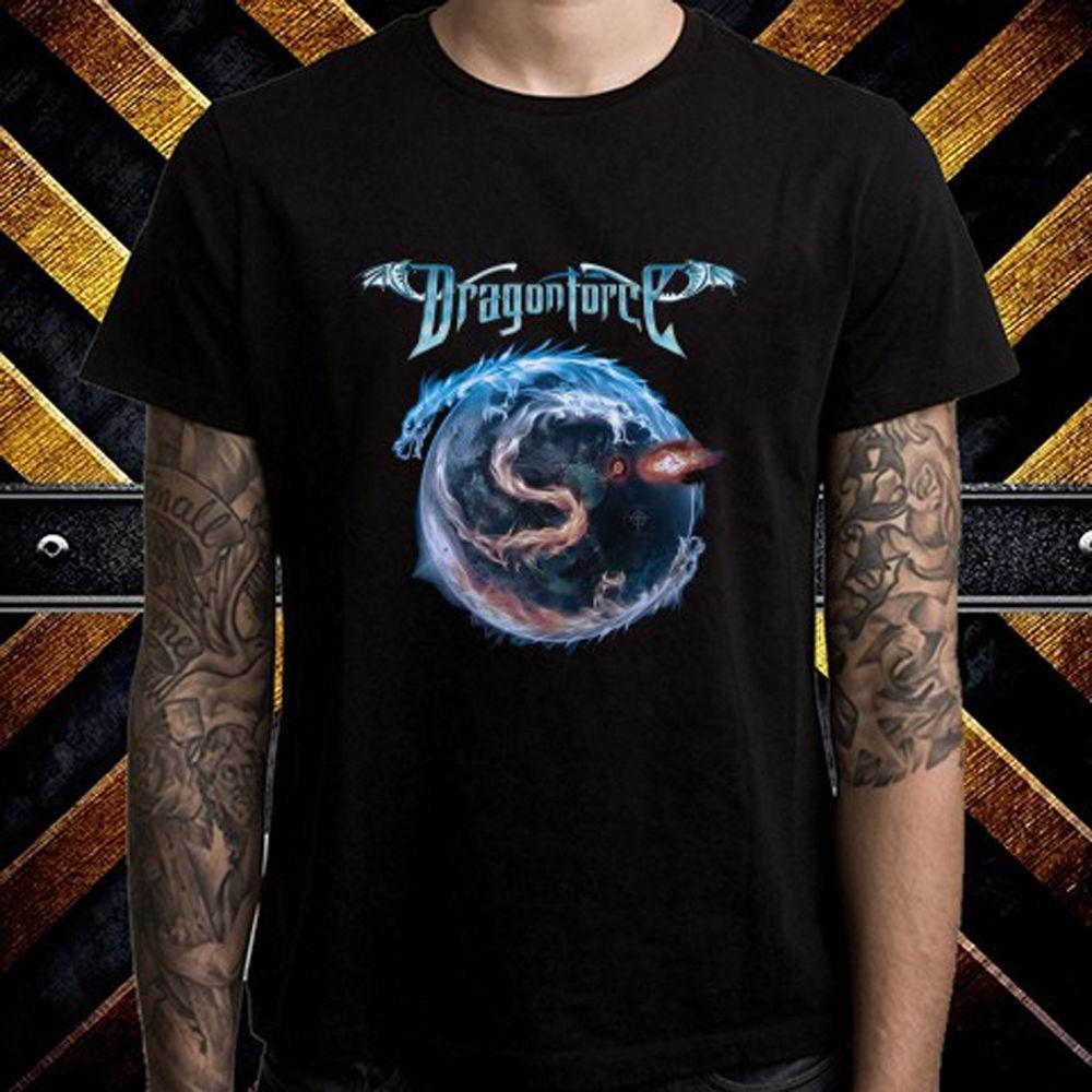 Dragonforce Logo Mens Black Rock T-shirt NEW Sizes S-XXXL