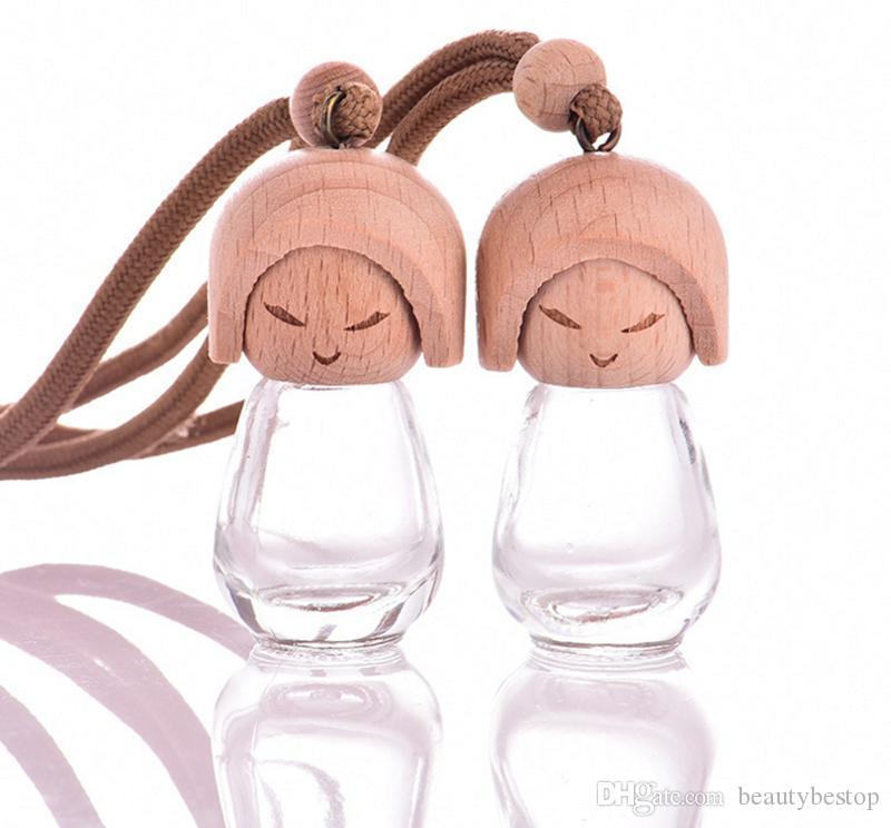 8 ml Mini Boş cam parfüm doldurulabilir asılı araba parfüm şişeleri ile çin yapılan kap