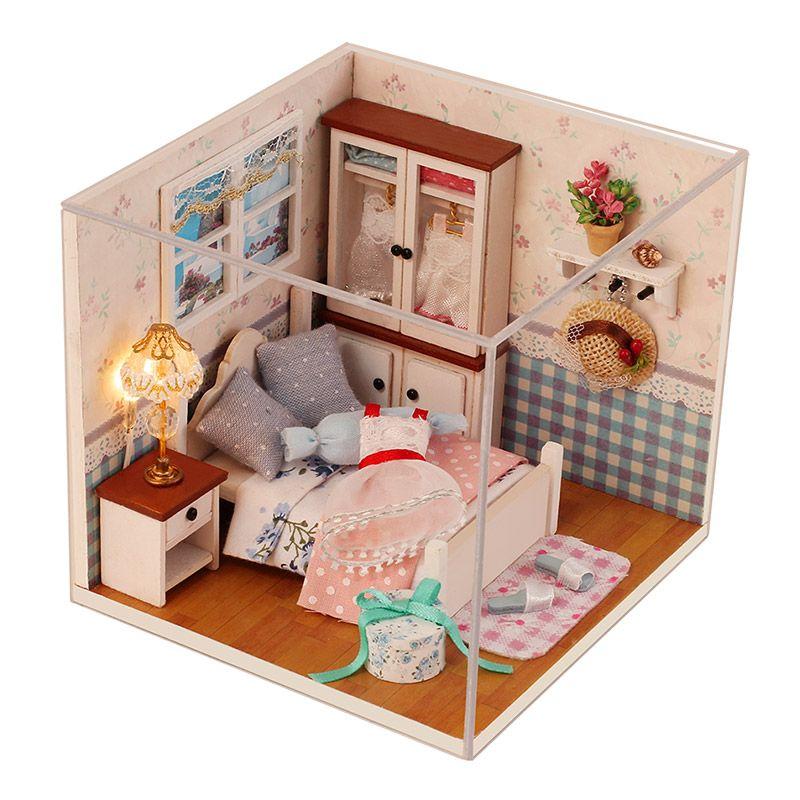Doll House Miniatura Diy Doll House Furnitures 3d Dollhouse