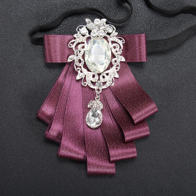 New arrival brooches bow neck tie/red groom wedding corsage decoration/handmade kpop fashion High quality suit accessories/broschen/broszka