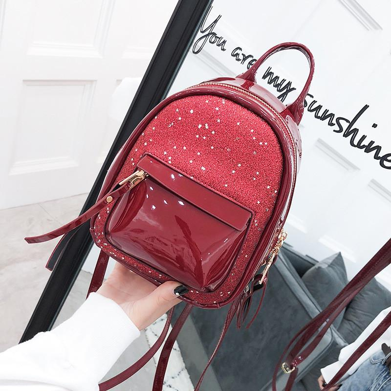 b9c7d822aa Miyahouse Solid Color PU Leather Backpack For Female Fashion England Style  Rucksack Lady Mini High Quality Backpack For Female Justice Backpacks  Camping ...