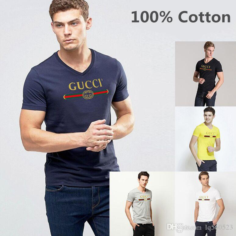 d4cfd89c100d Summer Men 100% Cotton T-shirts Solid Color Slim Fit Short Sleeve T ...