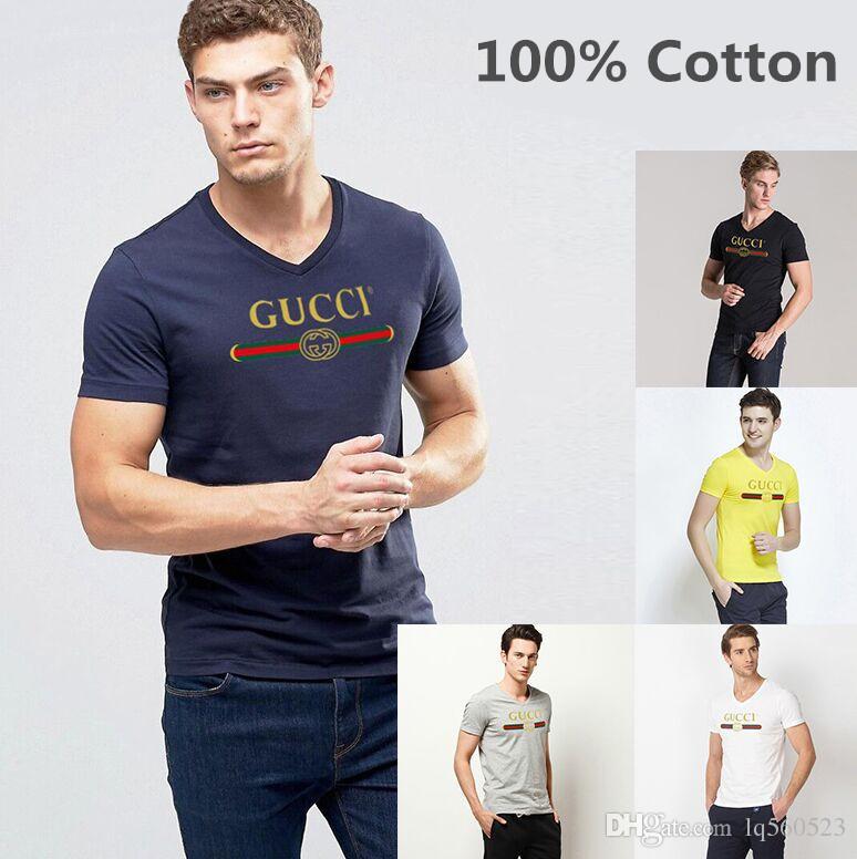 c5d53563b18c Summer Men 100% Cotton T-shirts Solid Color Slim Fit Short Sleeve T ...