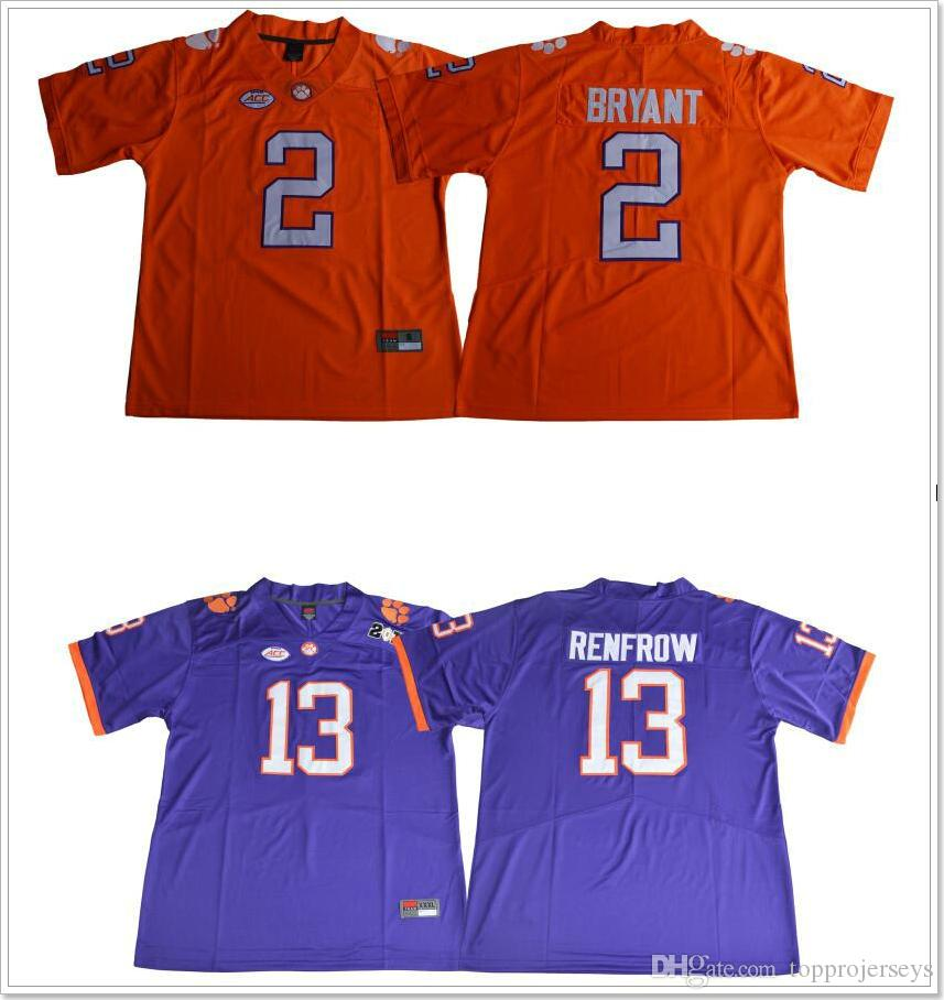 new products fd29f 8d677 Clemson Tigers #2 Kelly Bryant 13 Hunter Renfrow Vintage Mens College  American Football Sports Shirts Stitched Embroidery Pro Team Jerseys