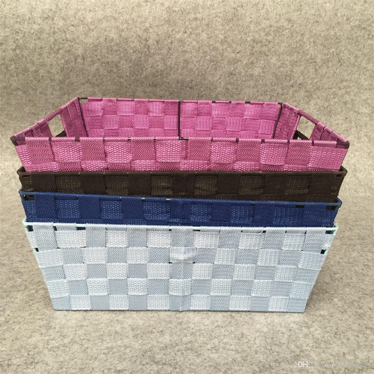 2018 Cheap Colored Woven Rayon Handmade Webbing Storage Baskets For  Wholesale From Lemon0921, $19.0 | Dhgate.Com