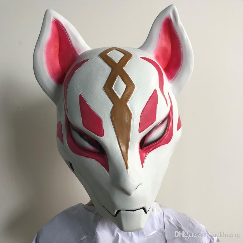 Men's Accessories Halloween Fox Drift Halloween Cosplay Costume Props Latex Full Face Mask Helmet Apparel Accessories