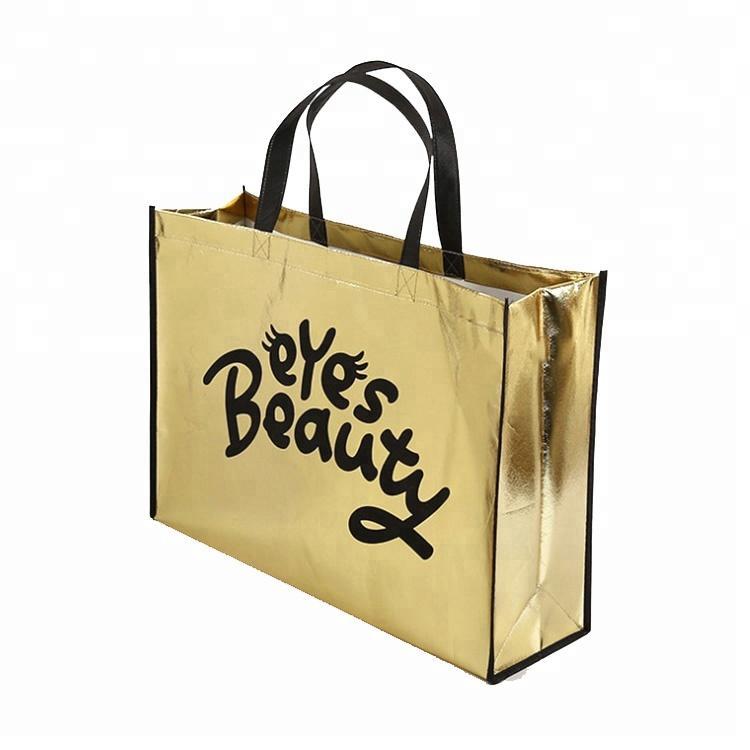 67694f0bd5 Wholesale 35Hx40x10cm Gold Laser Promotional Non Woven Shopping Bag Custom  Printed Logo Tote Reusable Shopping Bags Cheap Handbags Cheap Designer  Handbags ...
