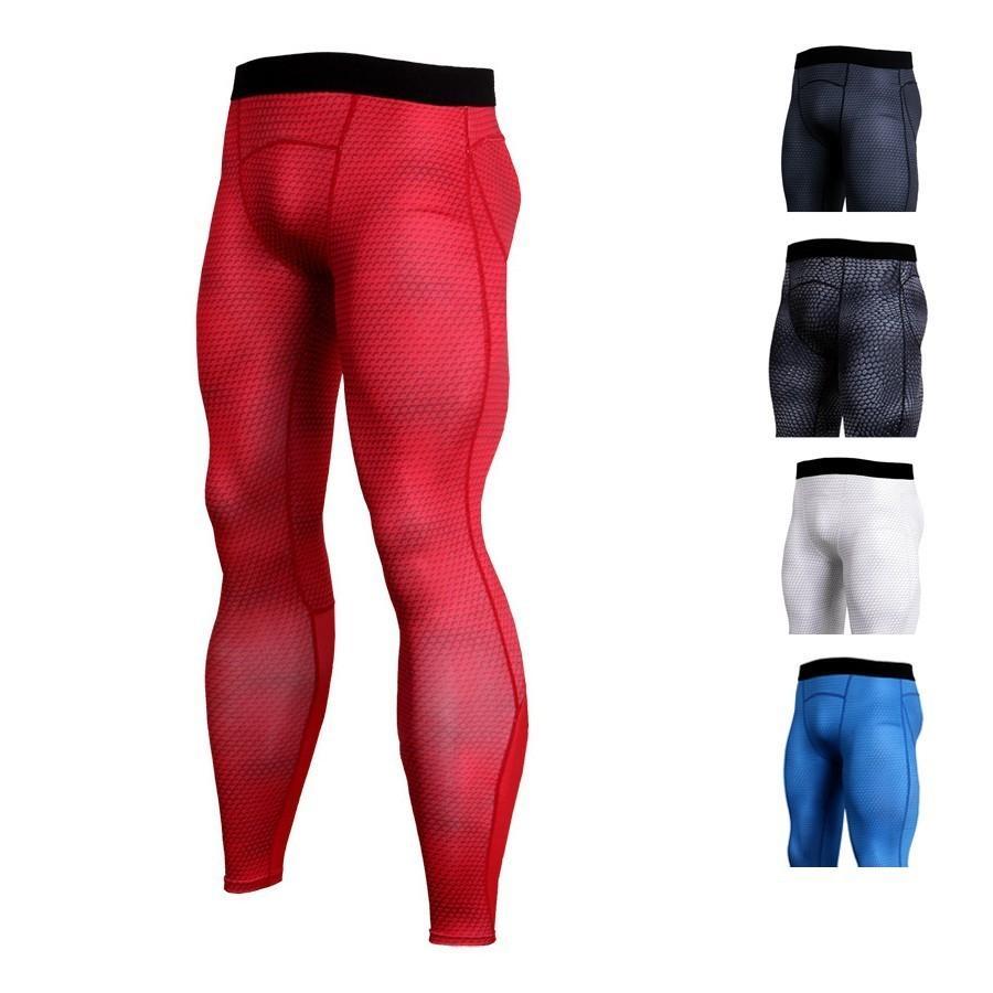 eb75a6623 Compre Pantalones De Running Para Hombre Compresión Modelo De Serpiente  Impresa En 3D Color Rojo Medias Flacas Pantalones Para Hombre Pantalones De  ...