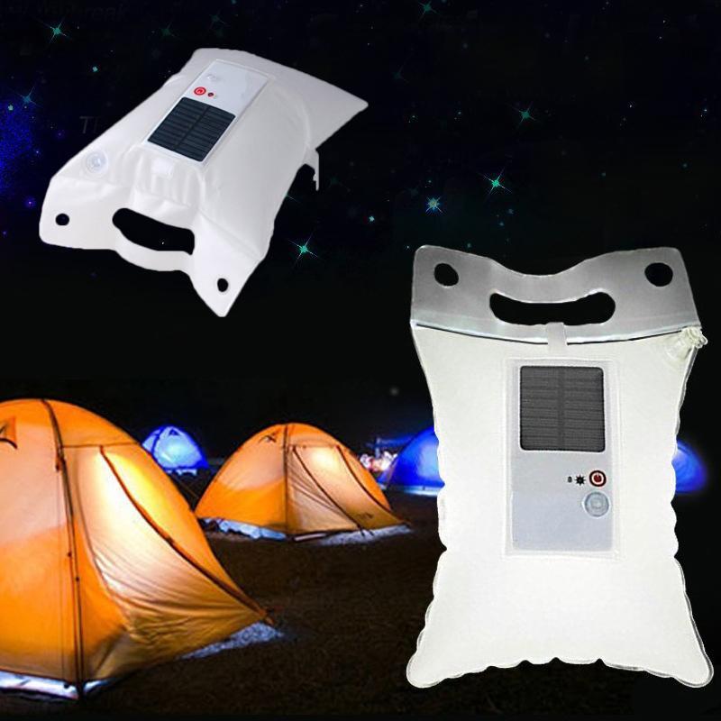 Solaire Portative À De Gonflable Led Sac Lampe Secours Pliable Camping Imperméable L'eau 80wOPNknX
