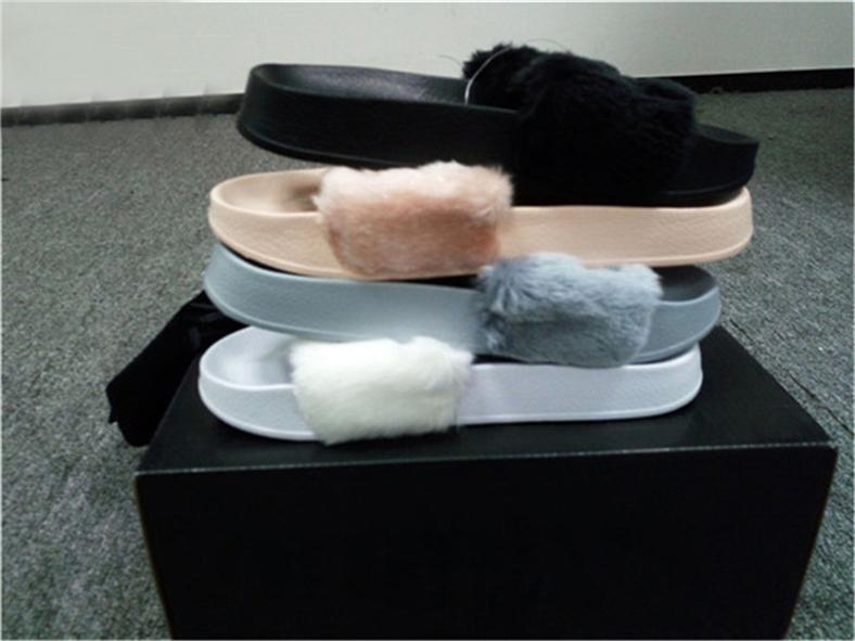 b1462893e II1Puma Rihanna Fenty Slippers Fenty Slides Rihanna Fenty Leadcat Fur  Slides Grey Pink White Black Slide Indoor Sandals With BOX DUST BAGS Knee  High Boots ...