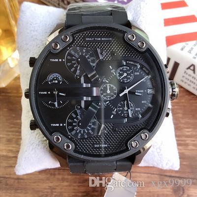 1cf93cc3a5b ... Relógios De Luxo Homens Negros  dz Relógios Desportivos Marca Designer  DZ7370 Cinta De Aço Inoxidável Homens Moda Militar Relógios De Quartzo  Relógio De ...