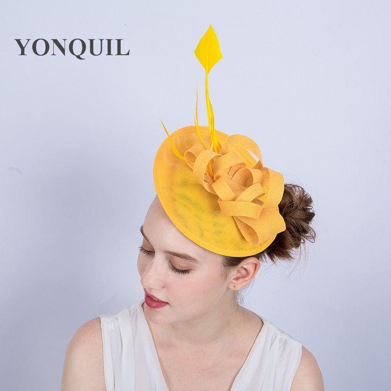 5a44902c9623c High Quality Nice Women Bridal Imitation Sinamay Fascinator Headwear ...