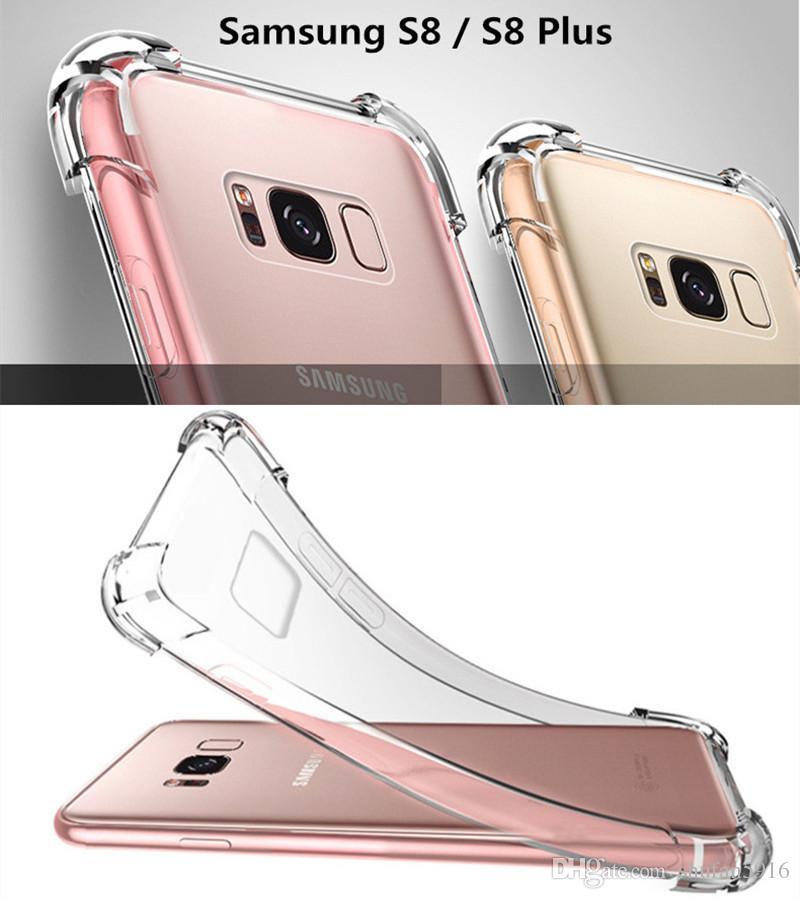 Para iphone xs xs max 8x7 6 6 s samsung s9 s8 além de nota 9 8 capa de almofada de ar macio tpu acrílico para iphone8