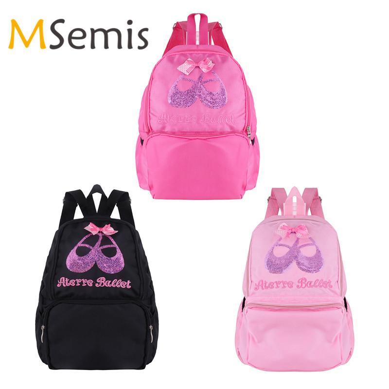 e74b062cf46 Kids Girls Ballet Bag Students School Backpack Ballet Dance Bags for ...
