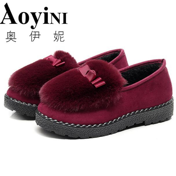 f9ff73e3b57 Compre Zapatos De Marca Para Mujer Calzado De Invierno Calzado Plano  Zapatillas Sin Cordones Calzado Para Uso Doméstico Botines De Algodón  Acolchado A ...
