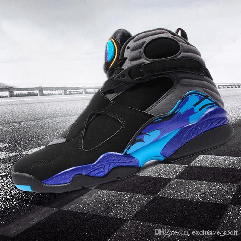 f09f2fdb236 2018 New Designer 8 8s Mens Basketball Shoes Chrome Aqua Black ...