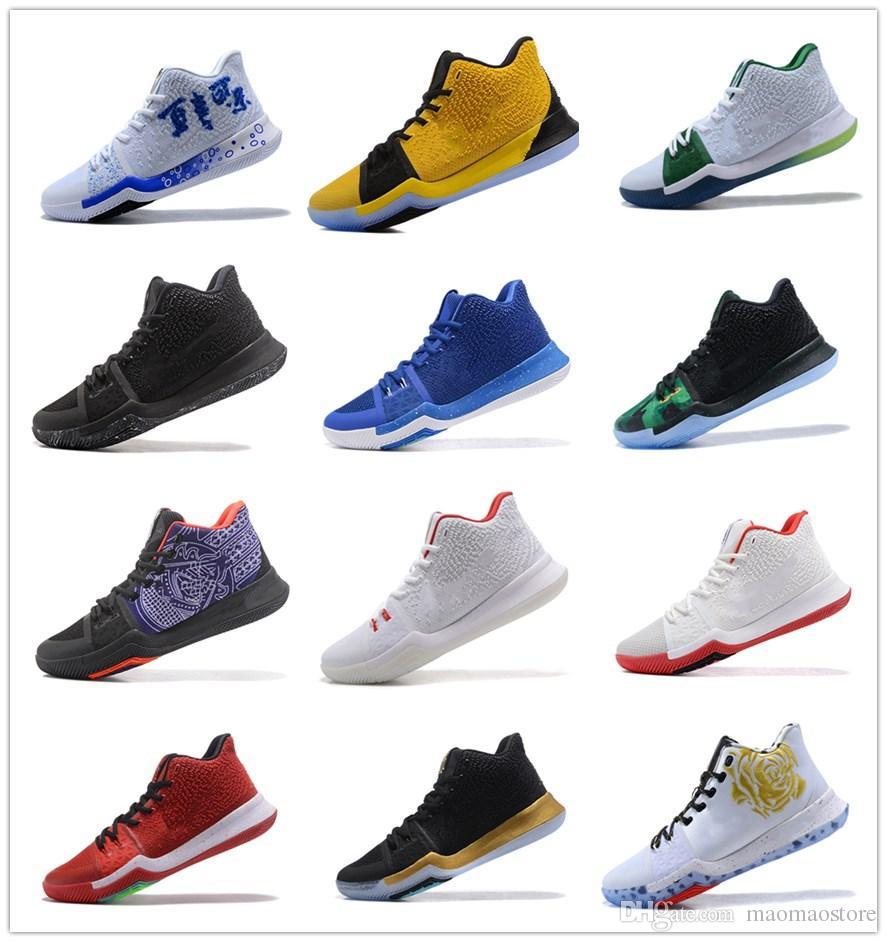 0fb2f41f2d Compre Nike Kyrie Irving 3 Nuevo Llega Kyrie Irving 3 Zapatillas De  Baloncesto Para Niños Niños Niños Retro Sports Boys Gilrs Chaussures  Zapatillas De ...