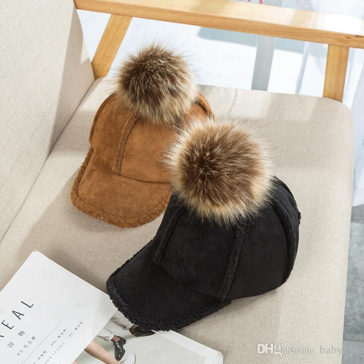 fashion hot Artificial Leather new arrival sport baby winter hats for boy and girls size 3M-5T cotton yarn warm fashion free style
