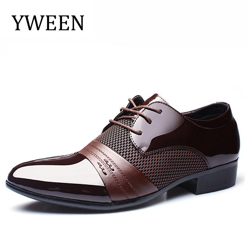 YWEEN Brand Men S Dress Shoes Men Business Flat Shoes Breathable Men Formal  Office Plus Size 38 47 Mens Shoes Loafers From Clearityy 973b373a5cfc