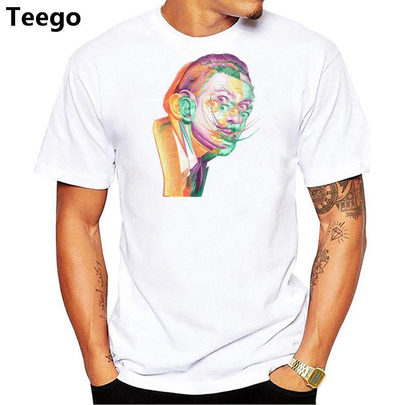 Compre Salvador Dali T Shirt Hombres Camiseta Camiseta Divertida De La  Manera O Cuello Blanco Camisetas Para Hombre Top Tees A  13.2 Del Ddgxx  dfcbbf1cacc28