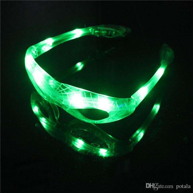 Lumineux lunettes cool allument gadgets Halloween éclairage Shinning Bright fête de Noël conduit Rave Marvel cadeaux adultesKids tours magiques jouets rouge