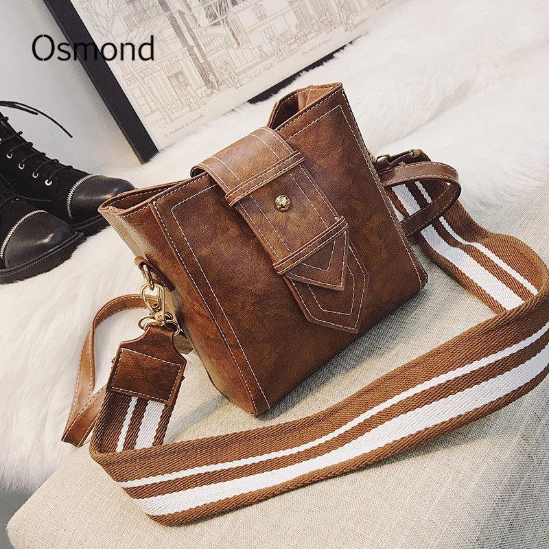 Osmond Leather Shoulder Bags Women Vintage Crossbody Bag Small Messenger Bags  Ladies Square Bucket Bag Mini Flap Bolsos Mujor Personalized Bags Fashion  ... d2f28b9ec7