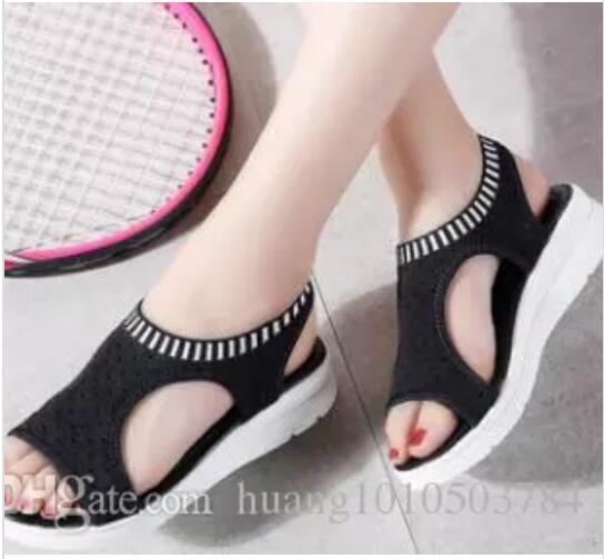 19047b83 2018 Mujeres Sandalias Para El Verano Nueva Plataforma Sandalias Comodidad  Transpirable Compras Se?oras Caminando Zapatos