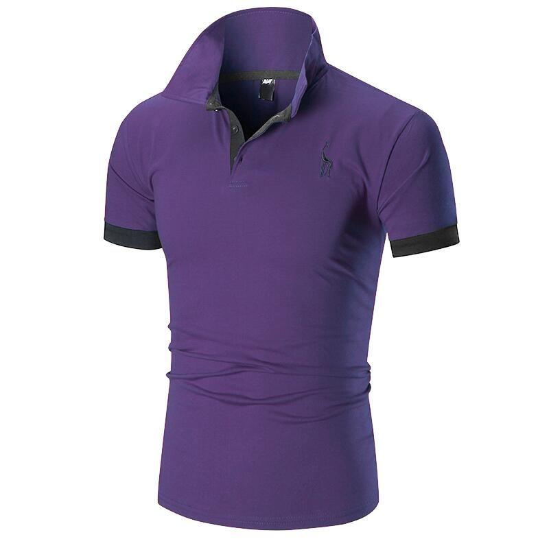 Sommermode neue Kragen Kurzarm Herren Baumwolle Casual T-Shirt High-End-Druck Grundierung Shirt kostenloser Versand