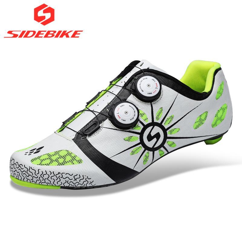 check out 26c08 128be 2019 scarpe da ciclismo in carbonio sidebike bici da strada da uomo scarpe  da corsa sportive da ciclismo sneakers da ciclismo autobloccanti ...