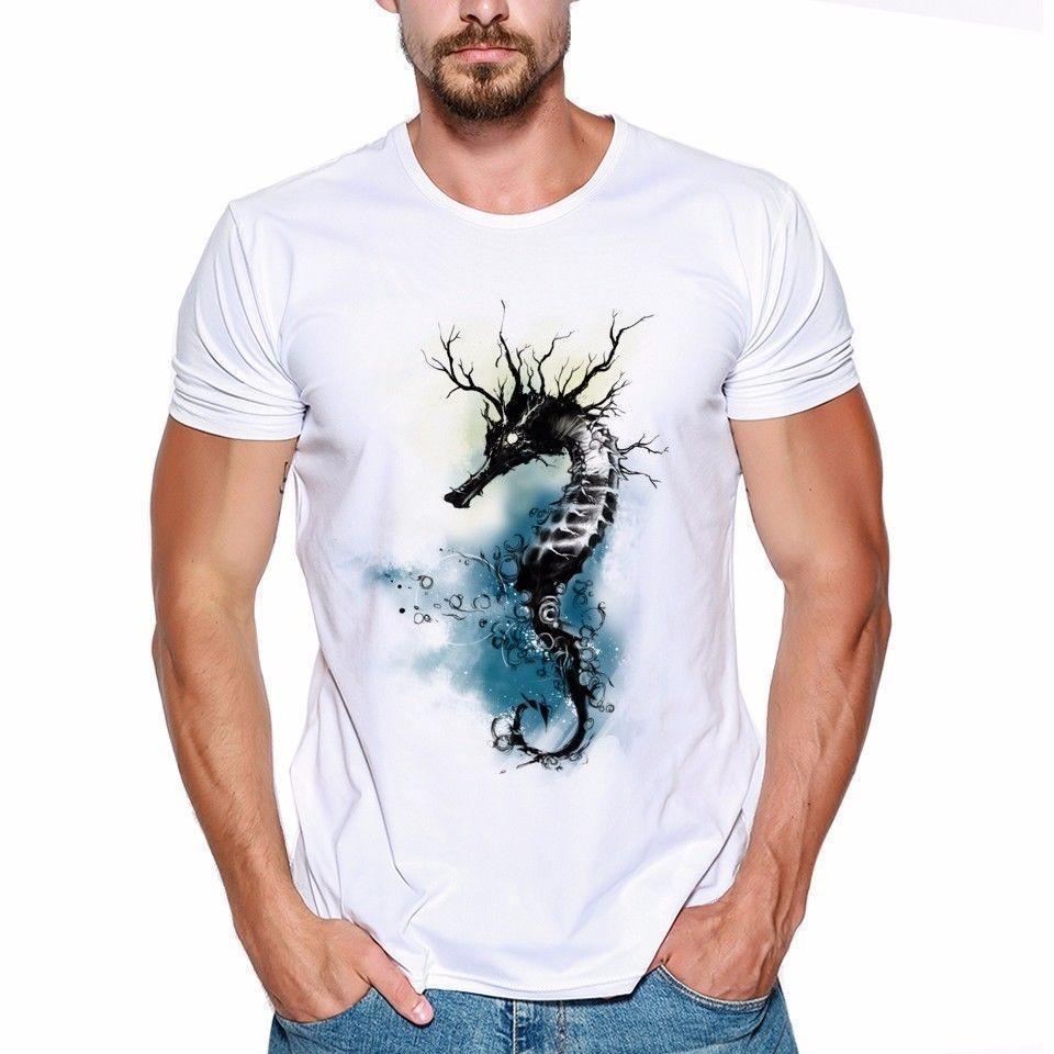 Can't Ride A Silent Seahorse Animal Funny Joke Men T Shirt Tee
