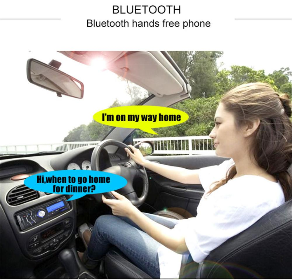 eClouds Multifunction Auto radio 1Din 4Channel Car Audio FM Radio Stereo In Dash Bluetooth MP3 Player Hands-free Aux Input Receiver USB