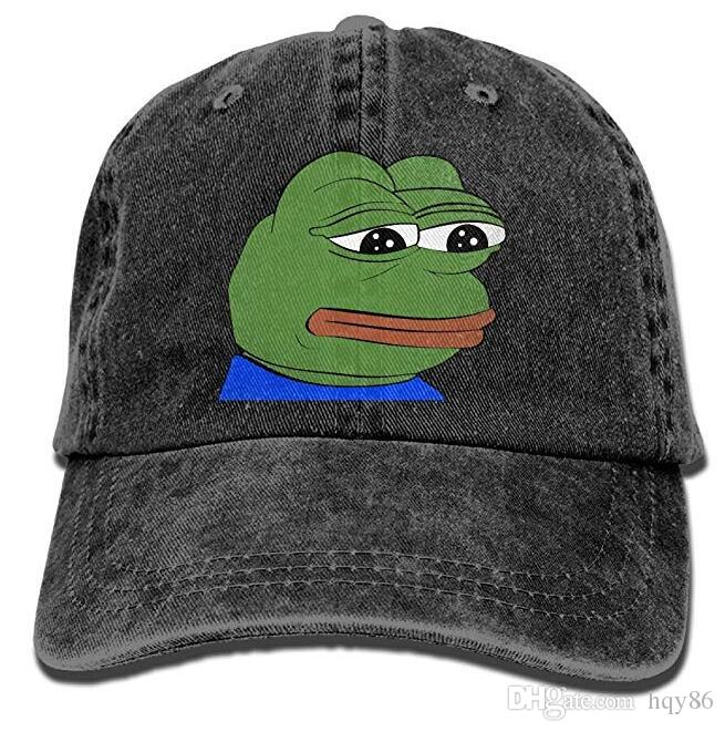016542db55d Pepe The Frog Logo Adult Cowboy Hat Baseball Cap Adjustable Athletic  Customized Best Hat For Men And Women Army Cap Cheap Hats From Hqy86