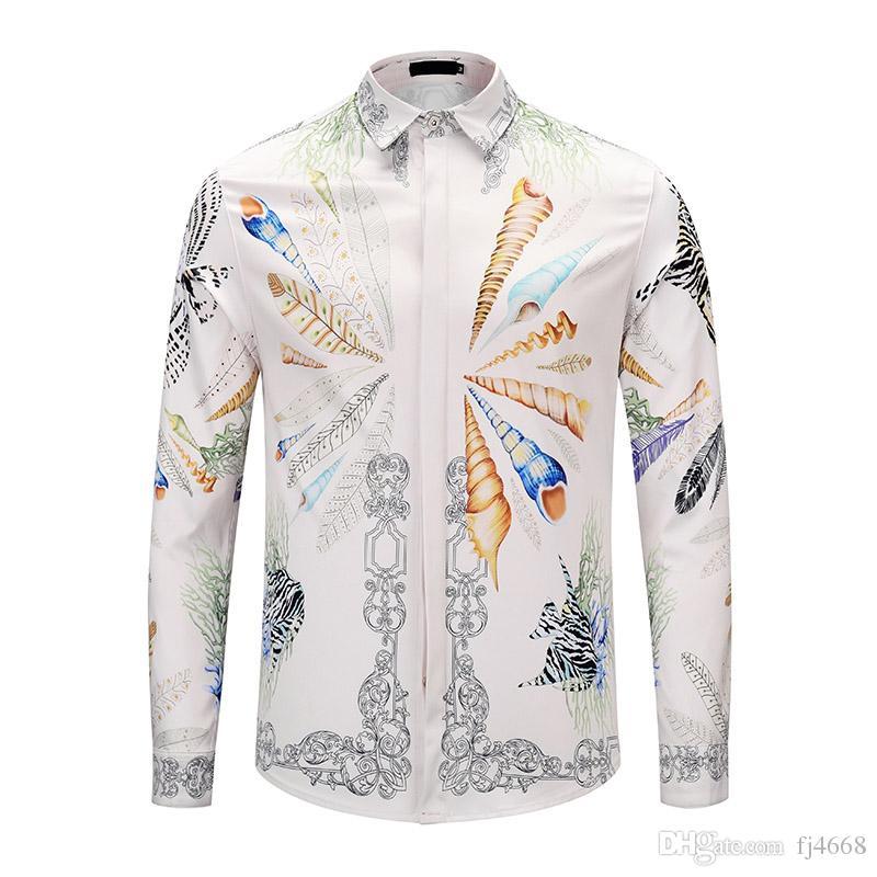 4d86d6a3bd2e 2019 All New 3D Druck Tiger Neue Herrenmode Luxus Mode Freizeit Designer  Luxus Freizeit Shirt Langarm Männer Medusa Asiatischen Größe From Fj4668,  ...