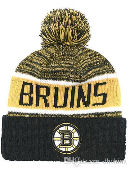 2019 New Beanies Boston Bruins Hockey 2018 Hot Knit Beanie Pom Knit Hats  Baseball Football Basketball Sport Beanies Mix Match Order All Caps From  Dhchina dd4d3ad417b