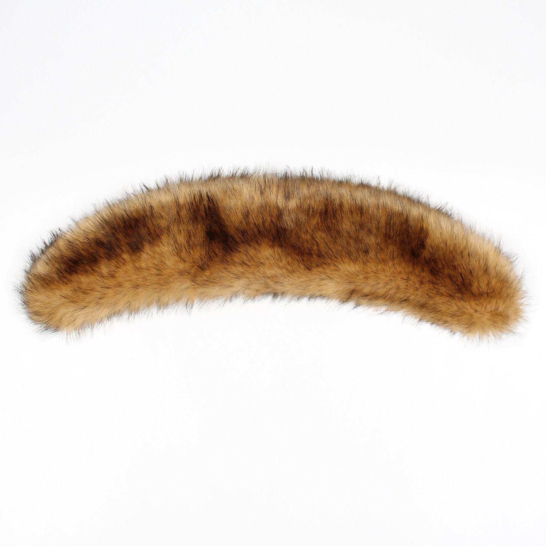 Faux Fur Collar Scarves 57cm Winter Warm Collar Multicolors Soft Unreal Fake Fur Collar Artificial Cape Poncho Elegant Fluffly